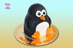 Torta 3D Pingu na 18-ku