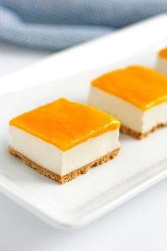 Vegan Mango Cheesecake Bars #vegan #dessert #mango #cheesecake #easyrecipe