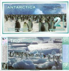 ANTARCTICA $2 Banknote World Money UNC Currency BILL 1996 Penguins FUN note 1996 in Coins & Paper Money | eBay