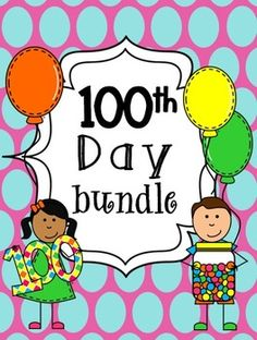 100th day of school pack!  Tons of activities for science, math, literacy, & writing centers!  Includes great craftivity ideas too!