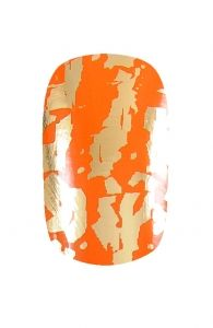 Orange and Gold Nail Wraps | Hollywood Nail Design £5.50 for a pack of 15.