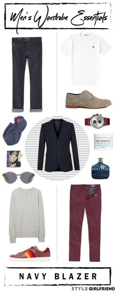 Style Girlfriend | Men's Wardrobe Essential: The Navy Blazer