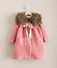 Girls Vintage Pink Coat