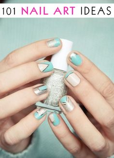 101 nail art ideas, now 104! Some are actually pretty cool and easy