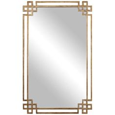 "Devoll Classical Gold 22"" x 36 3/4"" Rectangle Wall Mirror"
