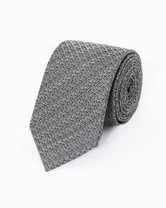 Flint Grey Silk & Wool Tie