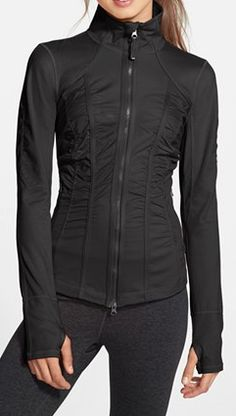 flattering jacket to keep you warm during your workout @Nordstrom http://rstyle.me/n/i6snzpdpe