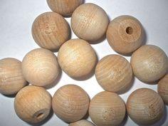 25mm round flat bottomed Wooden Drawer  Knobs. Furniture Pulls, Handles