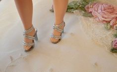 All White High Heel Doll Shoes~Replica Of Qrig.~For Cissette