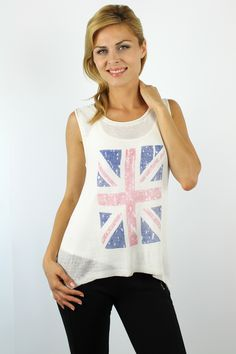 Enewwholesale sells white crew neck knitted tank top. Wholesale fashion women's tops online store with discount price