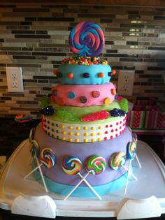 Candy themed birthday cake for Ariana's 12th birthday.