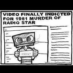 Video finally indicted for 1981 murder of radio star #MTV #80s #retro #music #funny