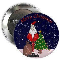 "Santa Claus 2.25"" Button on CafePress.com"