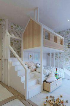home bedroom Kids Room Ideas - Best Shared Bedroom Ideas For Boys And Girls home kids children interior design home decor home ideas homes bedrooms childrens rooms childrens rooms shared rooms