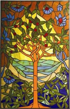 Stained Glass Tree of Life ~