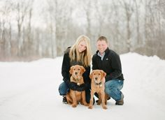We love engagement photos with DOGS!! Especially cuties like these two :) Photo captured on Contax 645 with Fuji 400H film by The McCartneys Photography.
