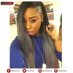 how to do a versatile sew in hairstyles with shaved sides Shaved Side Hairstyles, Mohawk Hairstyles, Straight Hairstyles, Braids With Shaved Sides, Half Shaved Hair, Natural Straight Hair, Natural Hair Styles, Short Hair Styles, Shaved Hair Designs