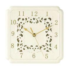 Premier Housewares Square Georgia Wall Clock Ceramic