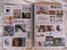 Cut out magazine clippings and post them to your creative, life, or inspiration notebook. Tumblr Scrapbook, Diy Scrapbook, Notebook Collage, Notebook Ideas, Midori, Best Friend Bucket List, Ideas Prácticas, Dont Forget To Smile, Don't Forget