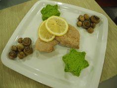 Cotlet de porc cu miere, piure de mazare si ciuperci sote - Bio Talk