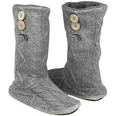 Orlando Magic Women's Two-Button Cable Knit Boots - Gray - $12.34