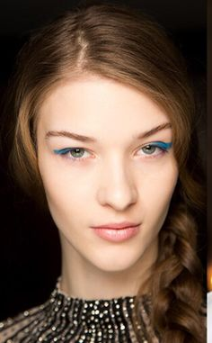 Blue liner   We love this eye makeup. #youresopretty
