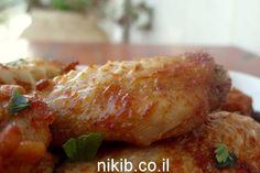כנפיים בחרדל ודבש מתכון קל לכנפיים בתנור והילדים אוכלים בהנאה גדולה...