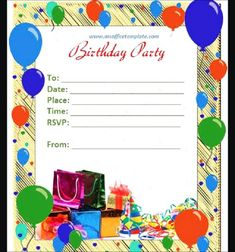 Happy Birthday Invitation Card With Name Hd