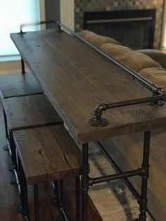 Reclaimed wood sofa table and stools. All CaseConcepts wood comes from reclaimed barns, mills and farm houses around southern Michigan and northern Ohio and Indiana. Most of the structures wood we use dates back to the All the wood is cleaned, sanded and
