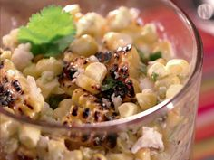 Cup a'Elotes from FoodNetwork.com.  Sounds yum.  Grilled corn with Poblano pepper sauce.