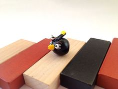 Fire Bomb Black Angry Bird phone charm/ by LivelyCollections, €4.50
