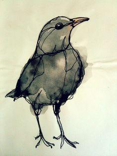 watercolor bird silhouette - Google Search