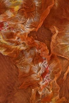 I love the different values of oranges and browns and the soft, light texture. It's a modernized type of tiedying