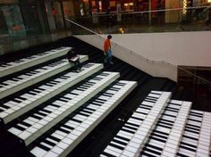 more awesome piano stairs...