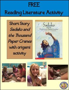 Sadako and the Thousand Paper Cranes Reading Literature Activity FREE with pre-reading, during reading, and post reading activities including learning about World War II Hiroshima and making an origami paper crane in the spirit of the main character who is an adolescent kids can relate to and get inspired by. The novella is available FREE on the web, so you have everything you need for a NO PREP easy distance learning or classroom lesson. Middle School Literature, Middle School Ela, High School, Post Reading Activities, Student Reading, Paper Cranes, Free Reading, The Book, Language Arts