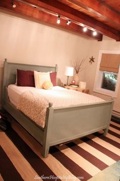 Putting Bed Up Against Side Wall Would Give More Floor