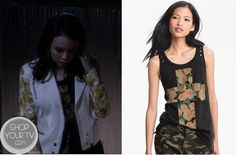 Shop Your Tv: Pretty Little Liars: Season 4 Episode 1 Mona's Floral Cross Tank