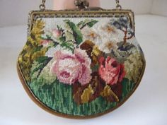Victorian Petit Point Purse