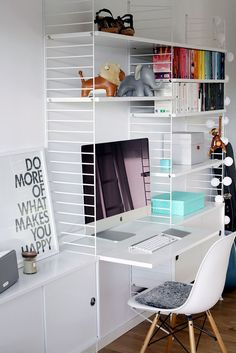 writing spaces, home office inspiration. Office Workspace, Home Office Desks, Home Office Furniture, Office Decor, Office Organisation, Office Spaces, Home Study Rooms, Study Room Decor, String Regal