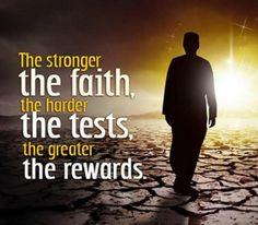 The Stronger The Faith.....