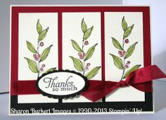 Simply Sketched 3 panel vines cherry cobbler, vanilla, old olive