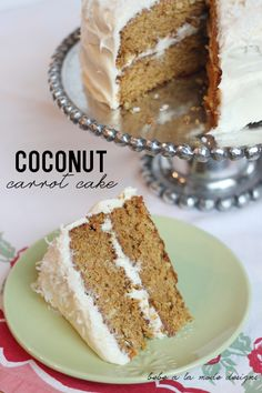 Carrot cake is a spring time favorite. This coconut carrot cake recipe is moist  and delicious. There's even a secret ingredient that makes it perfect every time!