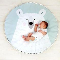 Matte POLAR Teddybär Krabbeldecke für Babys Kind Teppich