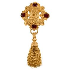 Check out this item at One Kings Lane! Chanel CC Logo Tassel Brooch w/ Box