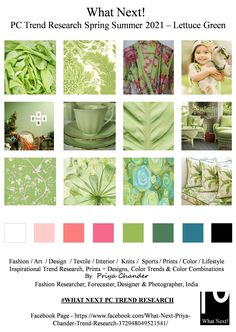 #Lettucegreen #lettuce #SS2021 #WhatNextPCTrendResearch #green #PriyaChanderDesigns #FashionForecastByPriyaChander #ColorTrendsByPriyaChander #fashionconsultant #fashiondesigner #springsummer2021 #fashionforecaster #fabricprints #interiordecor #fashionforecastspringsummer2021 #interiors #homedecor #InteriordesignTrends #knitwear #hautecouture #fashionweekSS2021 #colortrendsSS2021 #fashionforecast #fashion #art #design #fashionresearch #fashionforecasting #sportswear #wallart #folkart… Fashion Colours, Green Fashion, Colorful Fashion, Fashion Art, Color Trends, Design Trends, Trend Fabrics, Fashion Forecasting, Spring Fashion Trends