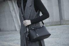 [ Lizzie Lo ]: #bytheway : ground control http://www.lizzie-lo.com/2016/01/bytheway-ground-control.html [Zara MAN hat  +  Zara vest coat  +  Fendi By The Way small blacl bag  +  Loewe knot charm  +   Zara wax coated jeans  +  Fendi honey comb boots]