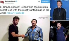 Sean Penn under investigation after meeting with El Chapo