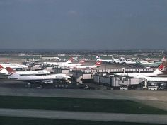 Back in the days before and when BA, Pan Am and TWA ruled the Atlantic. dep on a BA - Photo taken at London - Heathrow (LHR / EGLL) in England, United Kingdom in April, Old Planes, Best Airlines, Heathrow Airport, British Airways, Boeing 747, International Airport, Back In The Day, Airplanes, United Kingdom