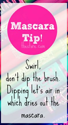 Beauty Tip ! Ever wonder WHY your mascara dries out so quickly?? Try this!