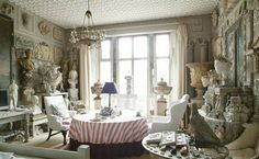 With an eye towards Sir John Soane's Museum, Peter Hone has filled his London flat with urns, busts and architectural fragments collected from his travels as one of England's leading dealers of garden furniture and antiques